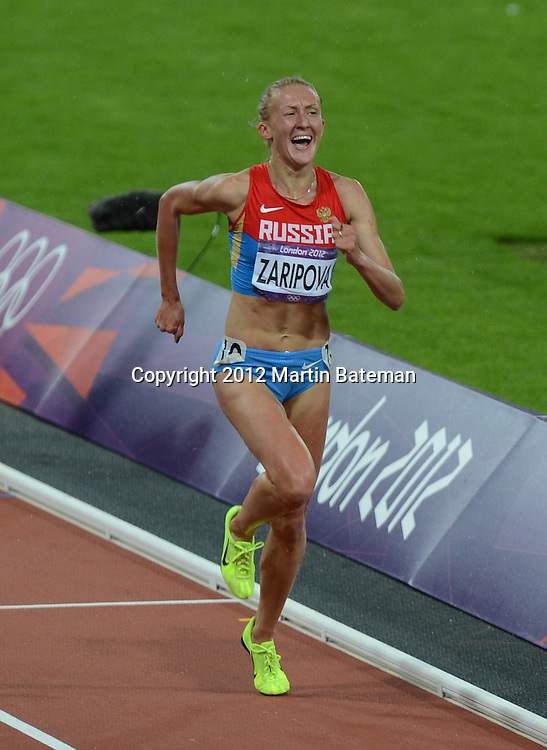 Accused drug cheat Zaripova wins the Women's 3000m Steeplechase at London2012