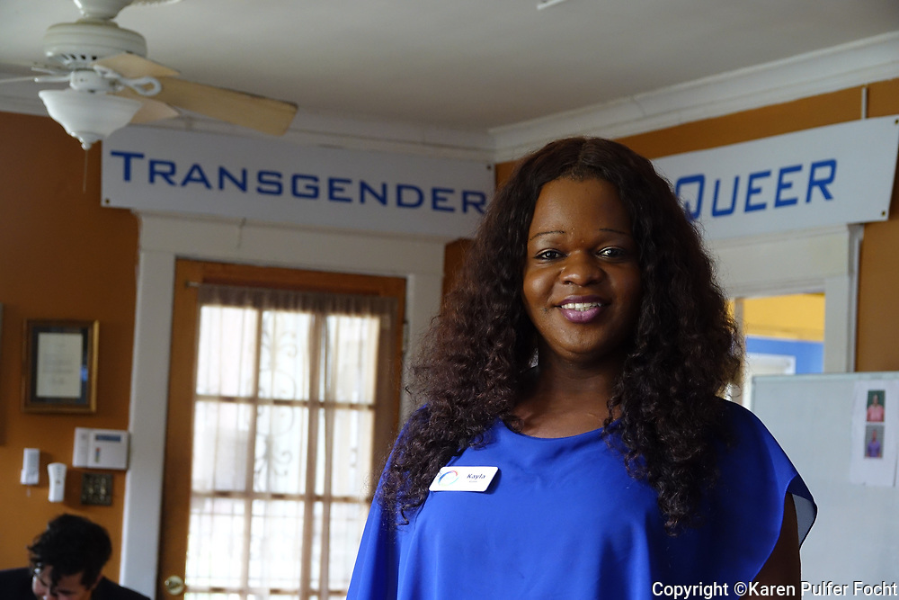 """Kayla Gore is a transgender services specialist for OUTMemphis: The LGBTQ Center for the Mid-South in Memphis, Tennessee.  She has is an activist who has strong opinions with the """"bathroom bill"""" that just passed the Texas house that would restrict public restroom access for people who are transgender."""