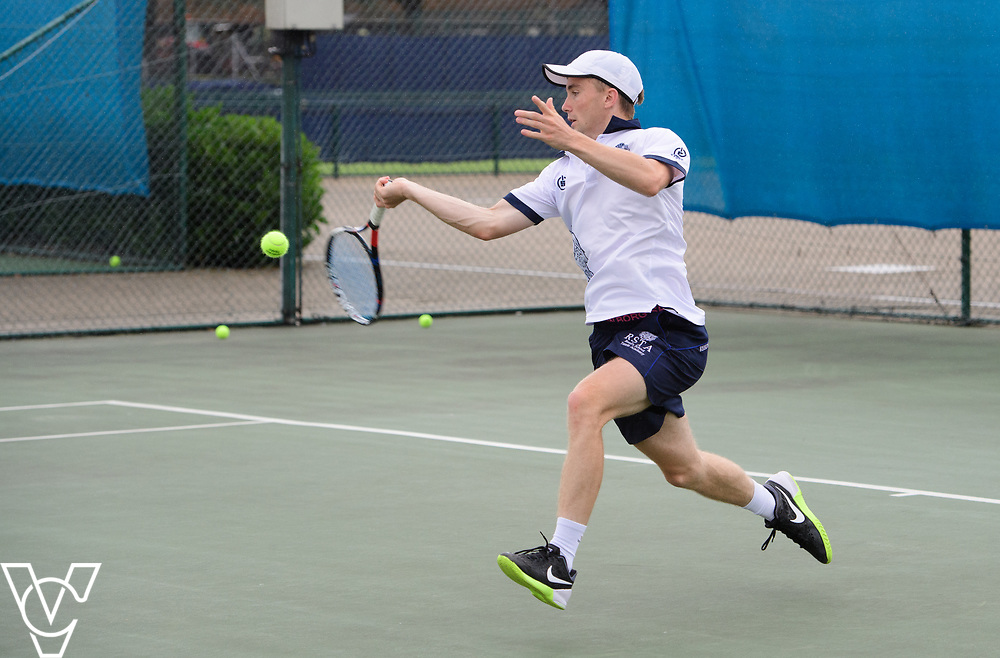 Glanville Cup - Reed's School [3] - Louis Newman<br /> <br /> Team Tennis Schools National Championships Finals 2017 held at Nottingham Tennis Centre.  <br /> <br /> Picture: Chris Vaughan Photography for the LTA<br /> Date: July 14, 2017