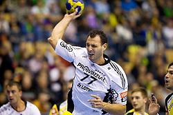 Jerome Fernandez of Kiel during the handball match between RK Celje Pivovarna Lasko (SLO) and TWH Kiel (GER) in 4th Round of Velux EHF Men's Champions League, on October 17, 2010 in Arena Zlatorog, Celje, Slovenia.  (Photo By Vid Ponikvar / Sportida.com)