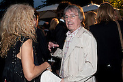 BILL WYMAN, The Summer party 2011 co-hosted by Burberry. The Summer pavilion designed by Peter Zumthor. Serpentine Gallery. Kensington Gardens. London. 28 June 2011. <br /> <br />  , -DO NOT ARCHIVE-© Copyright Photograph by Dafydd Jones. 248 Clapham Rd. London SW9 0PZ. Tel 0207 820 0771. www.dafjones.com.