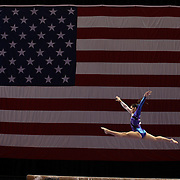 Ariana Guerra, League City, Texas, in action on the Balance Beam during the Senior Women Competition at The 2013 P&G Gymnastics Championships, USA Gymnastics' National Championships at the XL, Centre, Hartford, Connecticut, USA. 15th August 2013. Photo Tim Clayton