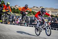 #280 during practice at the 2018 UCI BMX World Championships in Baku, Azerbaijan.