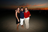 21 June 2008:  Sts. Simon and Jude class of 1985 beach bonfire at tower 9 in Huntington Beach, CA.