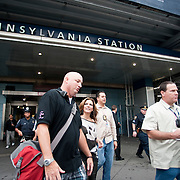 October 13, 2011 - Manhattan, NY : Country music singer Martina McBride leaves Penn Station after performing a quick set for a throng of fans and commuters in the station's atrium, on Thursday afternoon. The performance was part of  her 'Pink Together Express' tour, which supports breast cancer survivors.  CREDIT: Karsten Moran for The New York Times