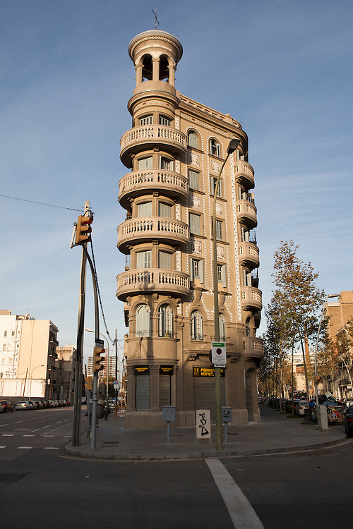 Modernist architecture in the Poblenou neighbourhood of Barcelona, Catalonia, Spain.