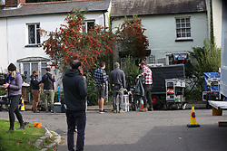 Thames Ditton, Esher,Surrey Tuesday 31st October 2017 Filming of the A Very English Scandal is the shocking true story of the first British politician to stand trial for conspiracy and incitement to murder. It is the late 1960s, homosexuality has only just been decriminalised and Jeremy Thorpe, the leader of the Liberal party and the youngest leader of any British political party in a hundred years, has a secret he's desperate to hide. As long as his ex-lover Norman Scott is around, Thorpe's brilliant career is at risk. Thorpe schemes and deceives - until he can see only one way to silence Scott for good. The trial of Jeremy Thorpe changed society forever, illuminating the darkest secrets of the Establishment. The Thorpe affair revealed such breath-taking deceit and corruption that, at the time, hardly anyone dared believe it could be true.<br /> Film Crews have taken over a 450,000 pound cottage  to film scene Picture is Director Stephen Frears  and Actress: Eve Myles was born on July 26, 1978 in Ystradgynlais, Wales. She is an actress, known for&nbsp;Torchwood&nbsp;(2006),&nbsp;Belonging&nbsp;(2000) and&nbsp;Framed&nbsp;(2009). She has been married to&nbsp;Bradley Freegard&nbsp;since May 18, 2013. &copy;UKNIP