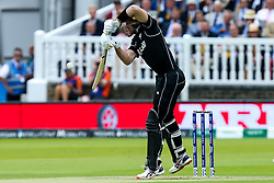 Martin Guptill of New Zealand hits a four - Mandatory by-line: Robbie Stephenson/JMP - 14/07/2019 - CRICKET - Lords - London, England - England v New Zealand - ICC Cricket World Cup 2019 - Final
