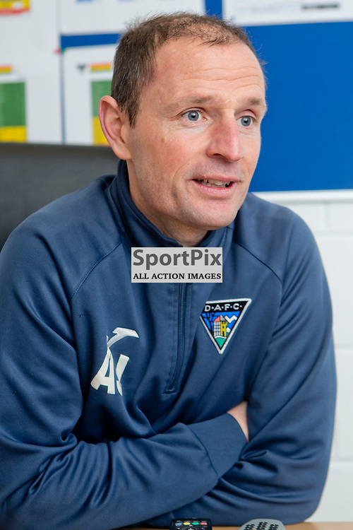 DAFC Presser East End Park 07 January 2016<br /> Allan Johnston previews saturdays match between DAFC and Ross County<br /> <br /> (c) CRAIG BROWN | SportPix.org.uk