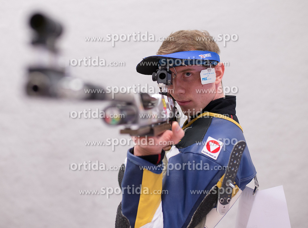 19.03.2016, Arena Kufstein, Kufstein, AUT, Österreichische Meisterschaften für Luftdruckwaffen, Herren, im Bild Bernhard Pickl (AUT) // Bernhard Pickl of Austria during the Austrian Mens Championships for airguns at Arena Kufstein in Kufstein, Austria on 2016/03/19. EXPA Pictures © 2016, PhotoCredit: EXPA/ Johann Groder