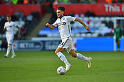 Matt Grimes (21) of Swansea City on the attack during the EFL Sky Bet Championship match between Swansea City and Queens Park Rangers at the Liberty Stadium, Swansea, Wales on 29 September 2018.