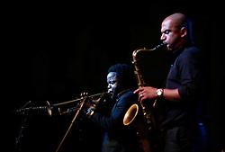 Ambrose Akinmusire and Walter Smith III, 2011<br /> Photo by Darrin Zammit Lupi