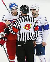 Jakub Voracek / Laurent Meunier - 07.05.2015 - Republique Tcheque / France - Championnat du Monde de Hockey sur Glace <br />Photo : Xavier Laine / Icon Sport