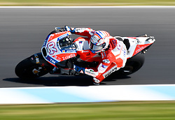 October 20, 2017 - Melbourne, Victoria, Australia - Italian rider Andrea Dovizioso (#4) of Ducati Team in action during the second free practice session at the 2017 Australian MotoGP at Phillip Island, Australia. (Credit Image: © Theo Karanikos via ZUMA Wire)