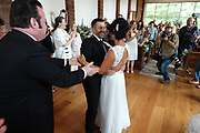Daniel & Tara Parkins came from Alabama to renew their vows at Graceland during Elvis Week. He originally proposed at the gates of Graceland. The couples have named their  daughter Gracelyn. Other couples also renewed their vows in the brand new Wedding Chapel in the Woods at Graceland, in Memphis, Tennessee during the 2018 Elvis Week Celebrations.