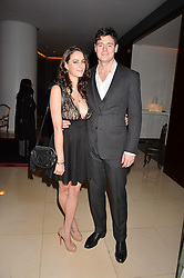 Kaya Scodelario and husband Benjamin Walker at the Giselle Premier VIP Party, St.Martin's Lane Hotel, London England. 11 January 2017.