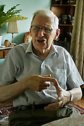07.07.2006 Warsaw Poland Wieslaw Chrzanowski politician statesman former head of Polish Parliament in his apartment Fot Piotr Gesicki