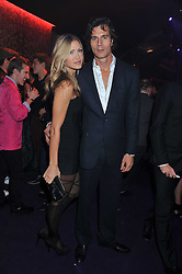 CAPRICE and TY COMFORT at a party hosted by Roberto Cavalli to celebrate his new Boutique's opening at 22 Sloane Street, London followed by a party at Battersea Power Station, London SW8 on 17th September 2011.
