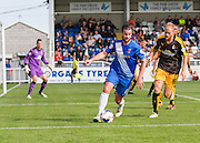 Matthew Bates (Hartlepool United) during the Sky Bet League 2 match between Hartlepool United and Cambridge United at Victoria Park, Hartlepool, England on 19 September 2015. Photo by George Ledger.