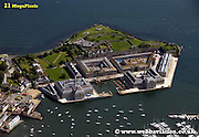 aerial photograph of Royal William Yard Harbour   Plymouth   Plymouth Devon , England UK