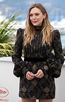 Elizabeth Olsen at the Wind River film photo call at the 70th Cannes Film Festival Saturday 20th May 2017, Cannes, France. Photo credit: Doreen Kennedy