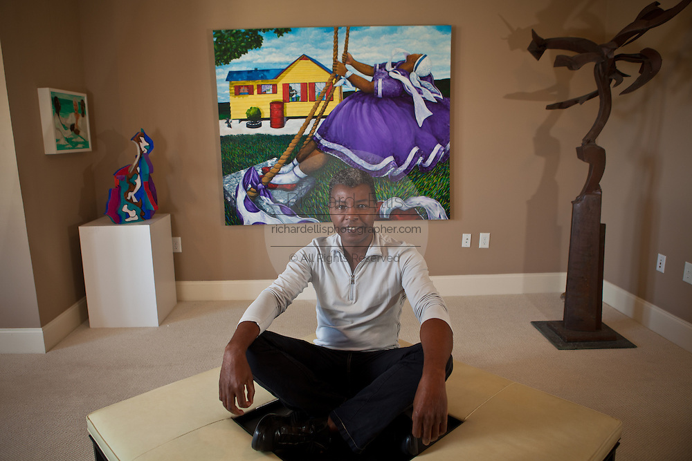 Famed artist Jonathan Green in his studio on Daniels Island January 9, 2011.    (photo by Richard Ellis)