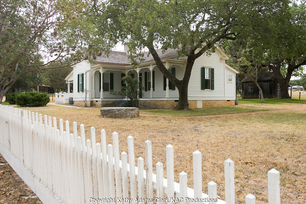 The home where Lyndon Baines Johnson lived during his boyhood, in Johnson City, Texas.
