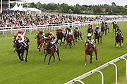 CHAINS OF LOVE (14) ridden by jockey Ben Curtis and trained by Karl Burke winning The SKF Rous Selling Stakes over 6f (£15,000) during the Mid Summer Raceday at York Racecourse, York, United Kingdom on 15 June 2018. Picture by Mick Atkins.