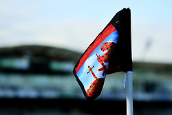 A Remembrance Corner Flag at the Memorial Stadium prior to kick off - Mandatory by-line: Ryan Hiscott/JMP - 10/11/2019 - FOOTBALL - Memorial Stadium - Bristol, England - Bristol Rovers v Bromley - Emirates FA Cup first round