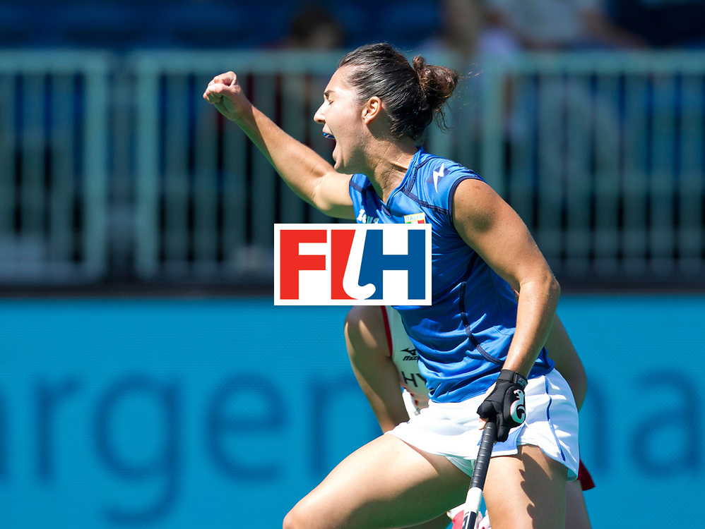 25/06/2015<br /> HWL Semi Final Antwerp Belgium 2015<br /> Italy  v Japan Women<br /> Chiara Tiddi<br /> Photo: Grant Treeby