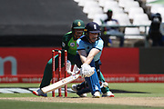Eoin Morgan (Capt) reverse sweep during the One Day International match between South Africa and England at PPC Newlands, Capetown, South Africa on 4 February 2020.
