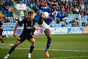 Carlisle United Forward Jabo Ibehre controls the bounce during the Sky Bet League 2 match between Carlisle United and Mansfield Town at Brunton Park, Carlisle, England on 9 April 2016. Photo by Craig McAllister.