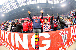 Mar 16, 2013; Harrison, NJ, USA; Fans of the New York Red Bulls before their match against the D.C. United at Red Bull Arena. The match ended in a 0-0 tie.