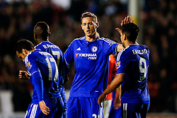 Nemanja Matic celebrates after Pedro of Chelsea  scores a goal to make it 1-4 - Mandatory byline: Rogan Thomson/JMP - 07966 386802 - 23/09/2015 - FOOTBALL - Bescot Stadium - Walsall, England - Walsall v Chelsea - Capital One Cup.