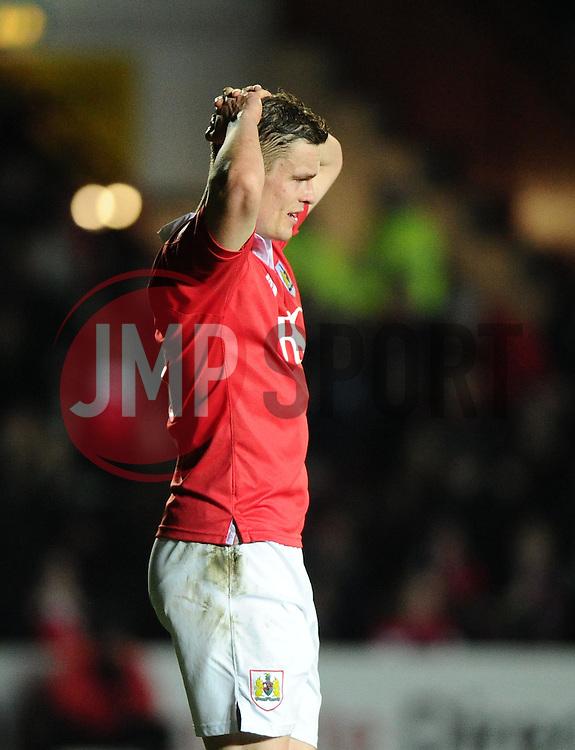 Bristol City's Matt Smith  - Photo mandatory by-line: Joe Meredith/JMP - Mobile: 07966 386802 - 10/02/2015 - SPORT - Football - Bristol - Ashton Gate - Bristol City v Port Vale - Sky Bet League One