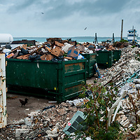 Even a small island like Harbour Island, Bahamas produces massive amounts of trash. It then needs to be brought by boat to another island and burned.