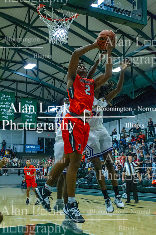 29 November 2019: Boys Basketball Normal Community Ironmen v Bloomington Raiders at Shirk Center in Bloomington IL (Photo by Alan Look)