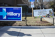 Political signage in Roxbury, MA, Super Tuesday, March 1, 2016.  CREDIT: Cheryl Senter for The New York Times