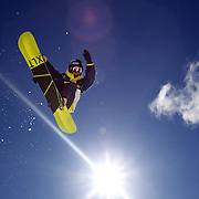 Taku Hiraoka, Japan, in action during the Men's Half Pipe Finals in the LG Snowboard FIS World Cup, during the Winter Games at Cardrona, Wanaka, New Zealand, 28th August 2011. Photo Tim Clayton...