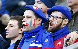 February 10, 2019 - London, England, United Kingdom - France support singing the France Anthem..during the Guiness 6 Nations Rugby match between England and France at Twickenham  Stadium on February 10th, 2019 in Twickenham, London,  England. (Credit Image: © Action Foto Sport/NurPhoto via ZUMA Press)