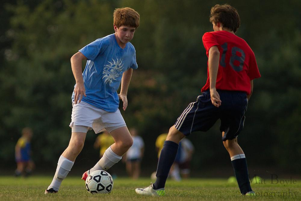 2012 Gloucester County Summer Soccer League: Washington Township High School D vs. Saint Augustine Prep B at New Street Park in Glassboro, NJ on Thursday July 26, 2012. (photo / Mat Boyle)