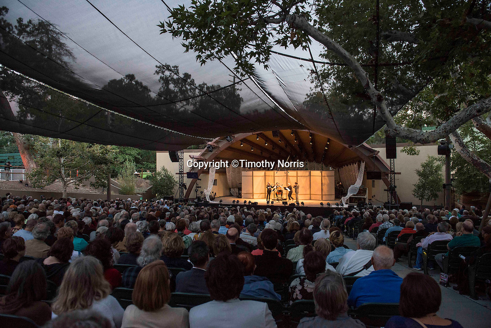"Brooklyn Rider performs Haydn's String Quartet in G Minor, Op.74, No. 3, ""Rider"" at the 68th Ojai Music Festival at Libbey Bowl on June 13, 2014 in Ojai, California."