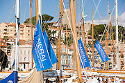 Classic yachts docked at Regates Royales