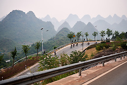 Descending toward Guilin at GREE Tour of Guangxi Women's WorldTour 2019 a 145.8 km road race in Guilin, China on October 22, 2019. Photo by Sean Robinson/velofocus.com