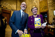 Roma 15/12/2015, program agreement between Minister of Economic Devolepment and Poste Italiane Italian Posts) for 2015-2019. In the Francesco Caio, Federica Guidi