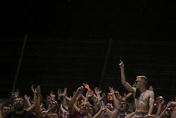 September 12, 2017 - Lisbon, Portugal - CSKA's supporters celebrating their goal the Champions League  football match between SL Benfica and CSKA Moskva at Luz  Stadium in Lisbon on September 12, 2017. NURPHOTO/CARLOS COSTA. (Credit Image: © Carlos Costa/NurPhoto via ZUMA Press)