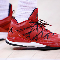 15 April 2014: Close view of Los Angeles Clippers guard Chris Paul (3) shoes during the Los Angeles Clippers 117-105 victory over the Denver Nuggets at the Staples Center, Los Angeles, California, USA.