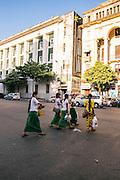 Heritage buildings. Yangon, Myanmar