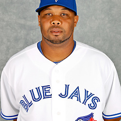 March 2, 2012; Dunedin, FL, USA; Toronto Blue Jays relief pitcher Francisco Cordero (48) poses for a portrait during photo day at Florida Auto Exchange Stadium.  Mandatory Credit: Derick E. Hingle-US PRESSWIRE