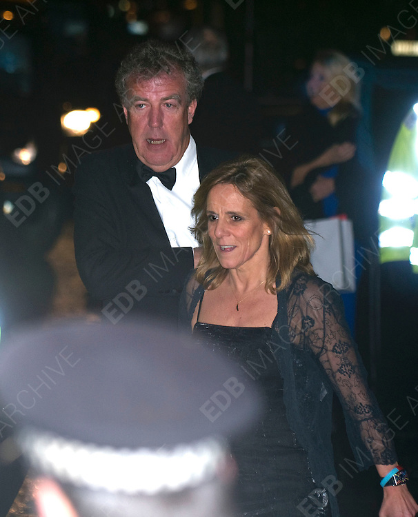 19.DECEMBER.2011. LONDON<br /> <br /> JEREMY CLARKSON AND FRANCES CAIN AT THE SUN MILITARY AWARDS 2011 AT THE IMPERIAL WAR MUSEUM IN LONDON<br /> <br /> BYLINE: EDBIMAGEARCHIVE.COM<br /> <br /> *THIS IMAGE IS STRICTLY FOR UK NEWSPAPERS AND MAGAZINES ONLY*<br /> *FOR WORLD WIDE SALES AND WEB USE PLEASE CONTACT EDBIMAGEARCHIVE - 0208 954 5968*